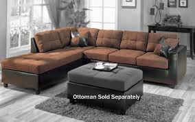 Small L Shaped Sofa Bed by Furniture Lovely Brown Microfiber Couch With Superb Color