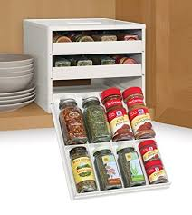 In Drawer Spice Racks Amazon Com Youcopia Classic Spicestack 24 Bottle Spice Organizer