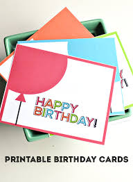 Birthday Card Print Printable Birthday Cards From Thirty Handmade Days