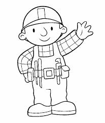 bob builder characters coloring