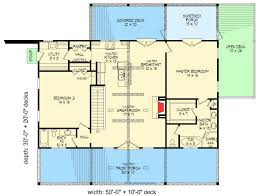great room floor plans 2 bed ranch with vaulted great room for a sloping lot 68414vr