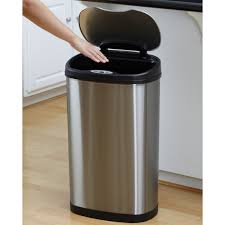 Tall Trash Can by Touchless Trash Can Ebay