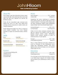 Resume Format For Sales And Marketing 49 Creative Resume Templates Unique Non Traditional Designs
