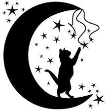 silhouette design store view design 152920 cat in the moon