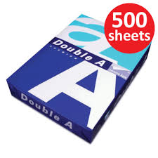 double a paper 80gsm a4 size 1 ream 500 sheets