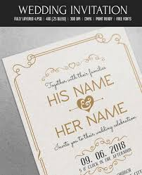wedding invitations psd 50 stylish wedding invitation templates
