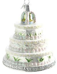 wedding cake christmas ornament wedding cake replica ornament by