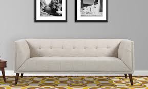 Chesterfield Sofa Linen by Brayden Studio Kronos Mid Century Chesterfield Sofa U0026 Reviews