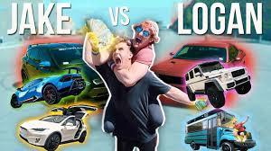 jake paul car jake paul vs logan paul car battle lamborghini yeti coolbus
