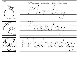 handwriting worksheet for kindergarten worksheets