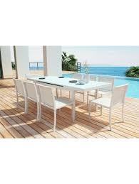 Kitchen Table White by Idalia Indoor Outdoor Dining Table White