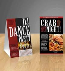 Table Tent Cards Table Tent Cards Archives Max Digital Printing
