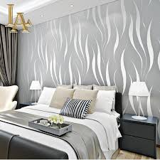 interior wallpapers for home aliexpress com buy fashion embossed flocking 3d striped