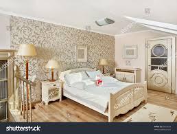 modern art deco style bedroom interior stock photo 69525658