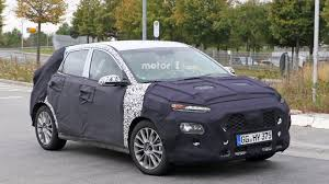hyundai crossover hyundai s upcoming crossover gets spied with strange front fascia