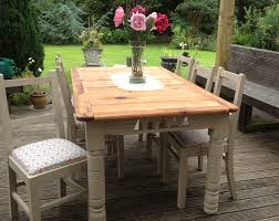 large old pine table and chairs updated with chalk paint and cath