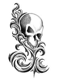 iron tribal skull tattooforaweek temporary tattoos largest