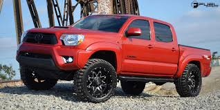 2013 toyota tacoma black rims 18 fuel wheels d567 lethal black milled rims fl027 2