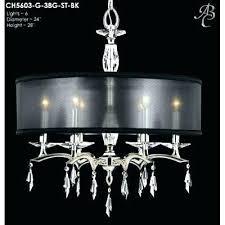 black drum l shade black drum shade crystal chandelier and black drum shade crystal