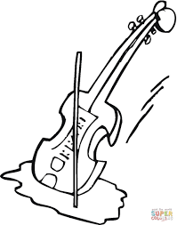 violin and bow coloring page with coloring pages creativemove me