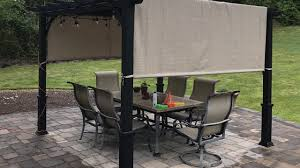 Garden Treasures Patio Furniture Company by Garden Treasures Pergola With Canopy Unboxing And Review Youtube