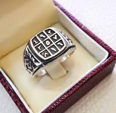 silver ring for men islam talisman arabic numbers abjad men ring sterling silver 925 arabic