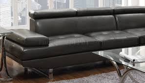 Charcoal Sectional Sofa Sectional Sofa 503022 In Charcoal Leather Match By Coaster