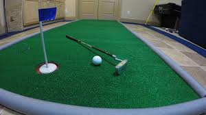 diy man cave game room portable golf putting green for less than