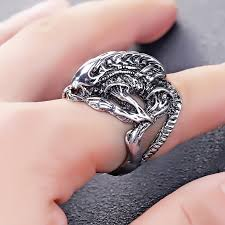cool finger rings images Avp alien predator punk ring alien warrior rings cool jewelry jpg