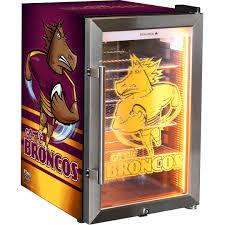 brisbane broncos branded bar fridge with unique light up logo