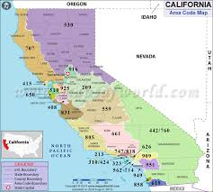 map of area codes california area codes map of california area codes