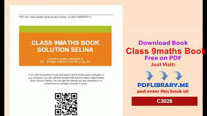 class 9maths book solution selina video dailymotion