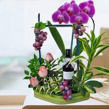 flowers wine wine basket wine baskets singapore