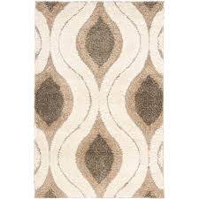 safavieh power loomed cream smoke shag area rugs sg461 1179 ebay