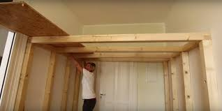 How To Build A Platform Bed With Storage Underneath by Build An Overhead Loft For A Small Room How To Build A Lofted Space
