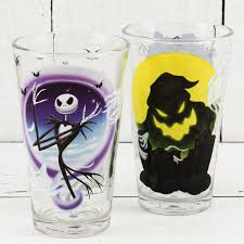 christmas glasses nightmare before christmas pint glasses for sale