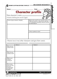 ancient egypt u2013 character profile u2013 primary ks2 teaching resource