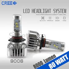 Cree Dimmable Led Light Bulbs by 9006 Cree 6000k High Power Led Headlight Bulb 8000 Lumen 80w