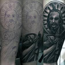amazing guys st jude forearm sleeve tattoo lett pinterest