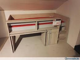 lit superpose bureau lit superposé moderne avec rangements et bureau a vendre 2ememain be