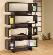 fabulous wooden book shelves design with graded racks ideas for