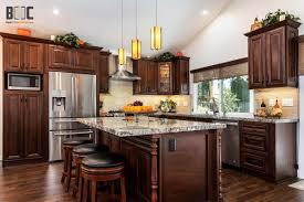 kitchen cabinet with doors monterey american walnut 30x15x24 wall cabinet rta