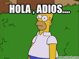 Meme Generator Homer Simpson - adios