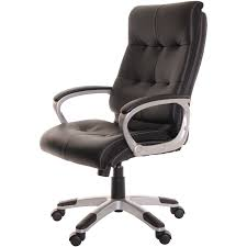 black leather desk chair high back leather office task chair black computer chair by