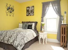 gray and yellow color schemes attractive master bedroom design for small space in gray and yellow