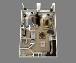 one bedroom apartment floor plans 3d