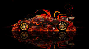 pagani zonda wallpaper pagani zonda r side fire abstract car 2014 el tony