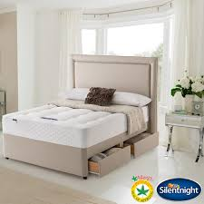 silentnight bexley miracoil orthopaedic single divan bed set with