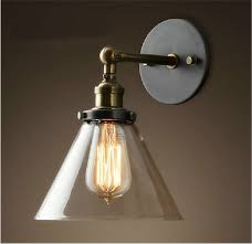 Retro Wall Sconces Vintage Industrial Modern Contemporary Glass Sconce Funnel Wall