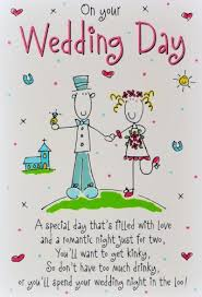 card for on wedding day wedding day card